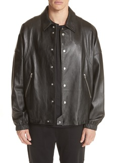 Helmut Lang Leather Coach's Jacket