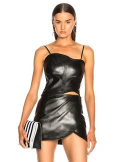 Helmut Lang Leather Corset Top