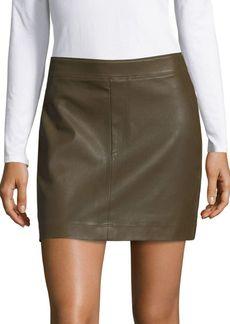 Helmut Lang Leather Mini Skirt