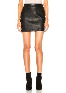 Helmut Lang Leather Skirt