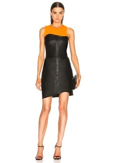 Helmut Lang Leather Strapless Dress
