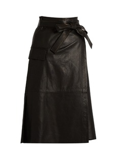 Helmut Lang Leather wrap skirt
