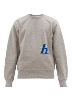 Helmut Lang Logo-appliqué cotton-jersey sweatshirt