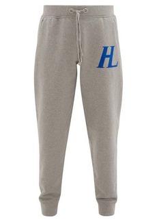 Helmut Lang Logo-appliqué cotton-jersey track pants