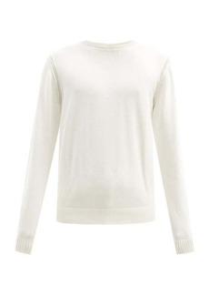 Helmut Lang Logo-embossed cotton-blend sweater