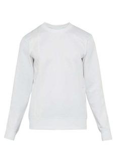 Helmut Lang Logo-embroidered appliqué-stripe sweatshirt