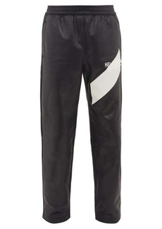 Helmut Lang Logo-embroidered coated jersey track pants