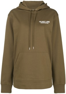 Helmut Lang logo hoodie - Green