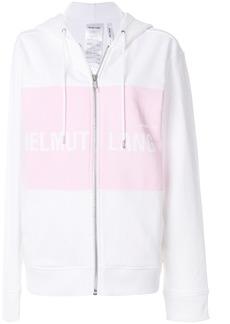 Helmut Lang logo hoodie - White