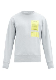 Helmut Lang Logo-patch cotton-jersey sweatshirt