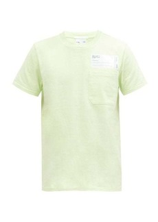 Helmut Lang Logo-patch cotton-jersey T-shirt