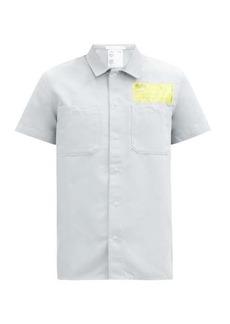 Helmut Lang Logo-patch twill shirt