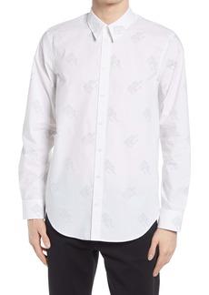 Helmut Lang Logo Print Button-Up Shirt