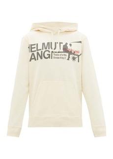 Helmut Lang Logo-print cotton hooded sweatshirt