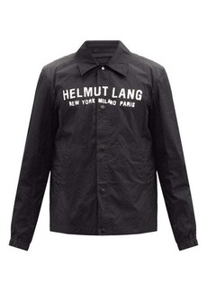 Helmut Lang Logo-print harness-strap shell coach jacket
