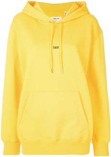 Helmut Lang logo print hoodie - Yellow & Orange