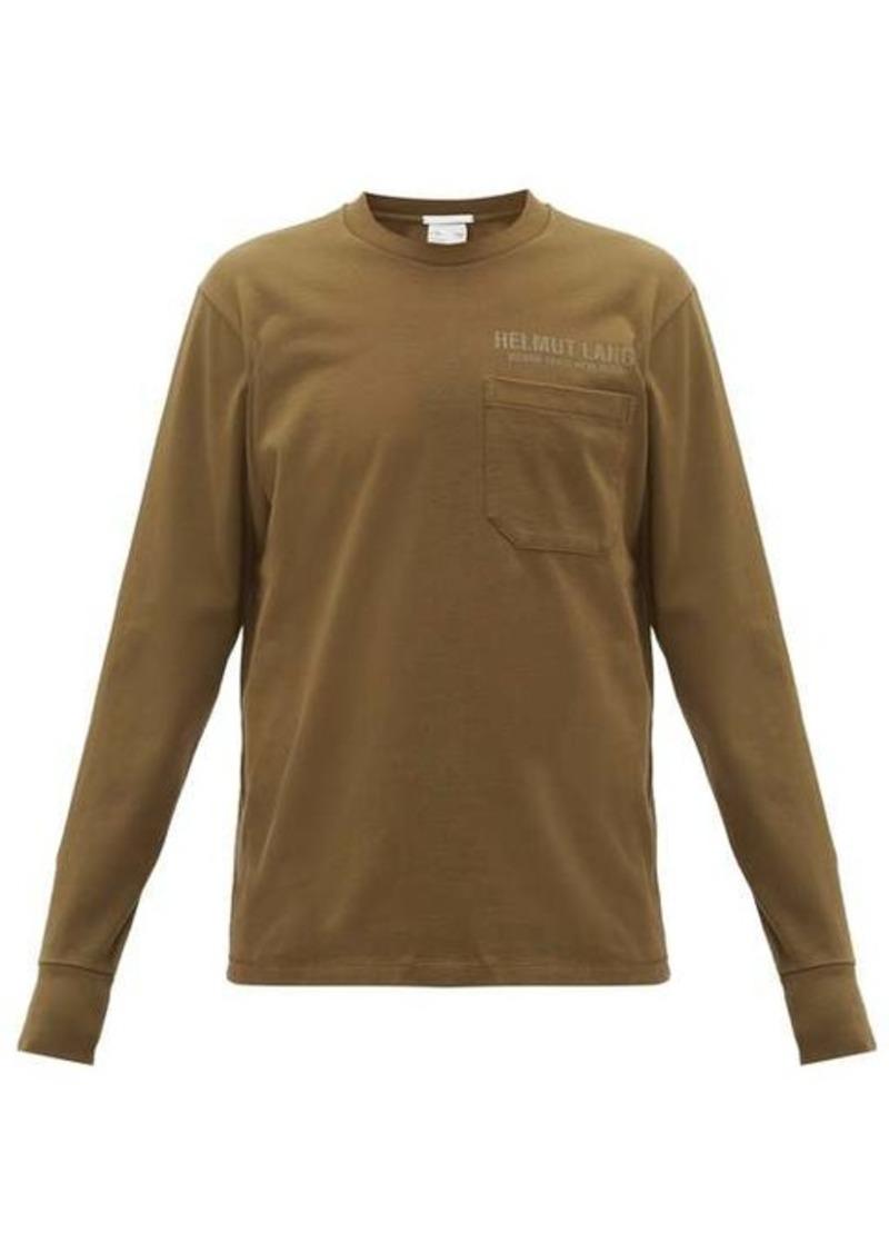 Helmut Lang Logo-print long-sleeve cotton T-shirt