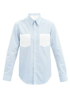 Helmut Lang Logo-print striped cotton shirt
