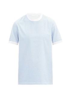 Helmut Lang Logo-print striped cotton T-shirt