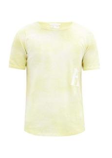 Helmut Lang Logo-print tie-dye cotton-jersey T-shirt