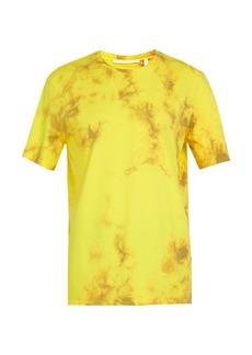Helmut Lang Logo-print tie-dye cotton T-shirt