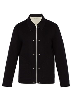 Helmut Lang Logo zip wool jacket