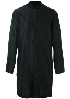 Helmut Lang long bomber style coat - Black
