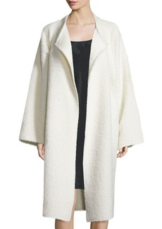 Helmut Lang Long Shaggy Alpaca-Blend Coat