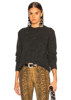 Helmut Lang Long Sleeve Brushed Crewneck Sweater