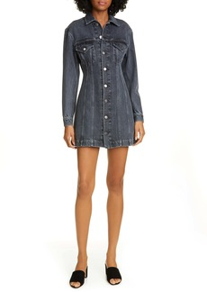 Helmut Lang Long Sleeve Denim Minidress