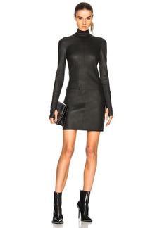 Helmut Lang Long Sleeve Leather Dress