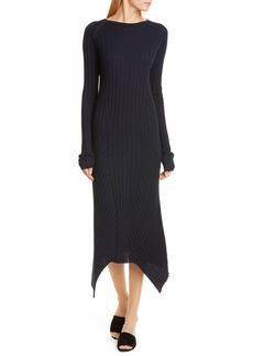Helmut Lang Long Sleeve Rib Wool Sweater Dress
