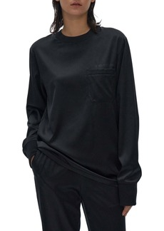 Helmut Lang Long Sleeve Silk Top