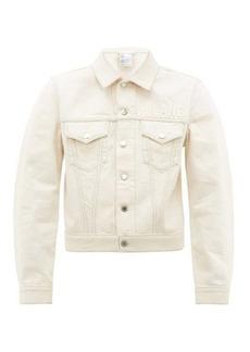 Helmut Lang Masc trucker logo jean jacket