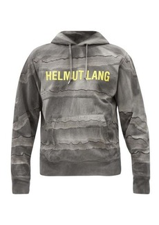 Helmut Lang Mega marble-dyed cotton hooded sweatshirt