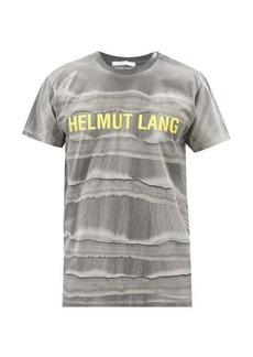 Helmut Lang Mega marble-dyed cotton-jersey T-shirt