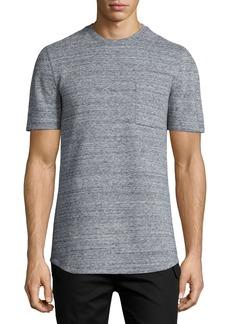 Helmut Lang Melange Short-Sleeve Crewneck T-Shirt