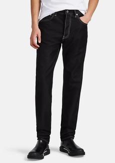 Helmut Lang Men's Contrast-Stitched Cotton-Blend Slim Jeans