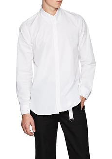 Helmut Lang Men's Cotton Poplin Snap Shirt