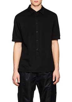 Helmut Lang Men's Elongated-Placket Polo Shirt