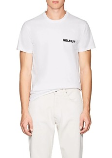 "Helmut Lang Men's ""In Lang We Trust"" Cotton T-Shirt"