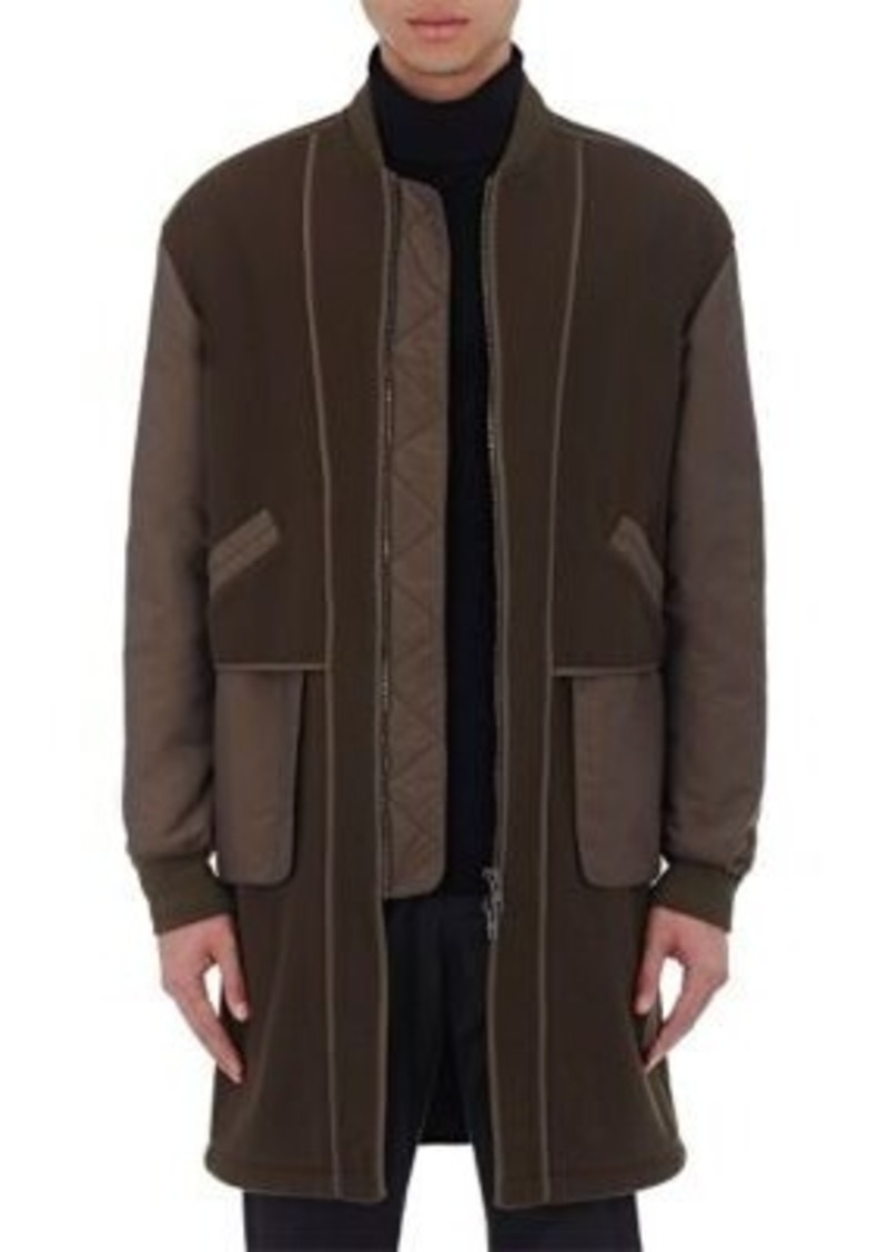 Helmut Lang Men's Inside-Out Long Bomber Jacket
