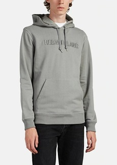 Helmut Lang Men's Logo-Embroidered Cotton French Terry Hoodie