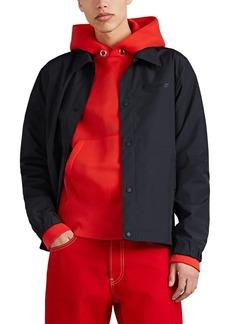 Helmut Lang Men's Logo Tech-Taffeta Stadium Jacket