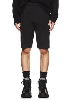 Helmut Lang Men's Logo-Waist Wool Twill Shorts