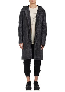 Helmut Lang Men's Marbled Tech-Twill Hooded Parka