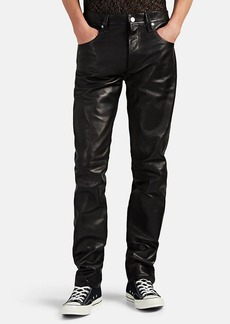 Helmut Lang Men's Masc High-Rise Straight Leather Trousers