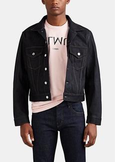 Helmut Lang Men's Masc Raw Denim Trucker Jacket