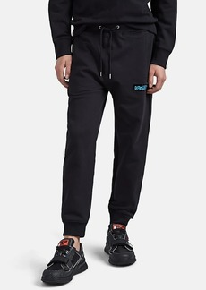 Helmut Lang Men's Neon-Logo Cotton French Terry Jogger Pants