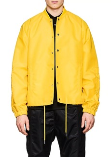 Helmut Lang Men's Ruched-Sleeve Nylon Coach's Jacket